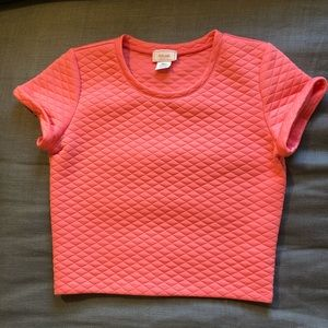 Love...ady  cropped quilted top (small)